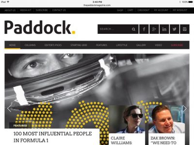 Paddock 100 most powerful people