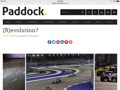 Paddock article