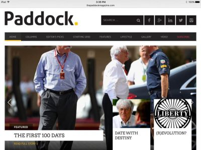 Paddock homepage 1