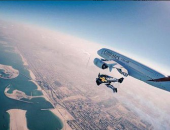 Emirates takes a Red Bull turn with jetman ad