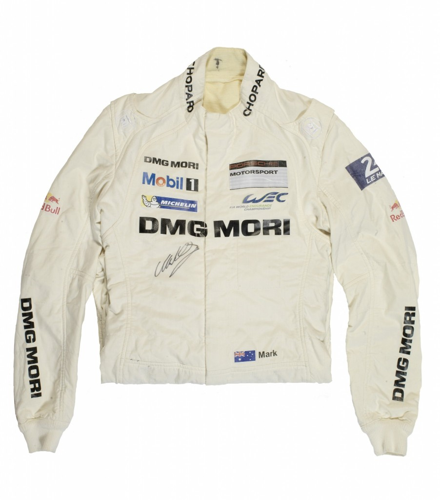 Mark Webber's race suit