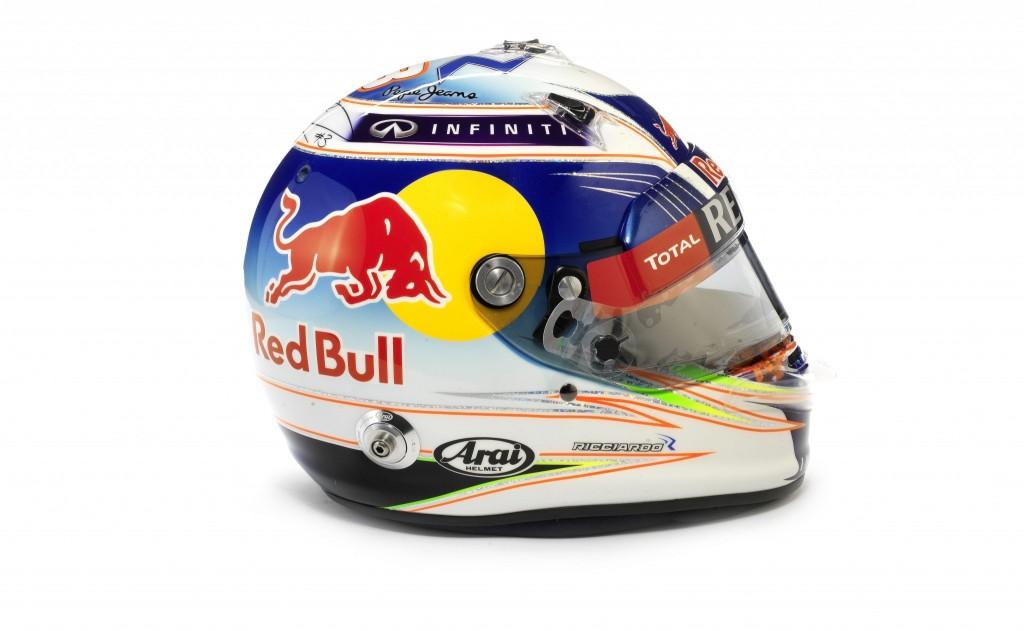 Daniel Ricciardo's British helmet