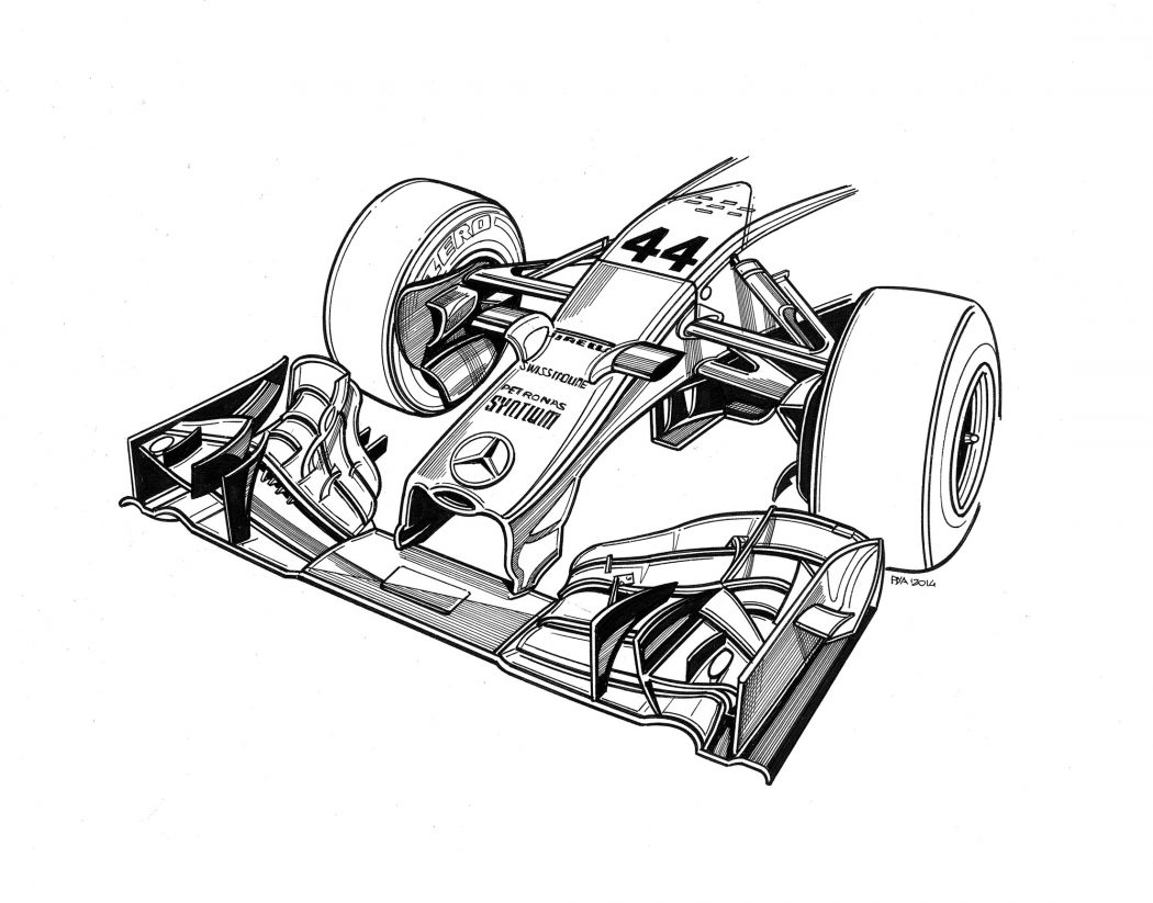 technical drawings of mercedes 2014