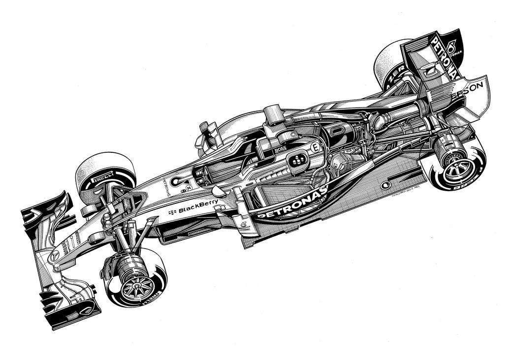 Technical Drawings Of Mercedes 2014 2016 Cars By Paolo D Alessio