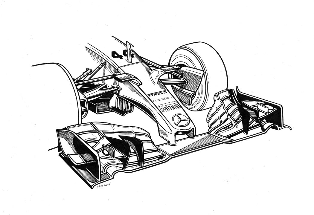 Technical Drawings Of Mercedes 2014 2016 Cars By Paolo Dalessio