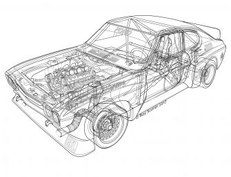 1974 Cologne Capri RS3100 by Roy Scorer