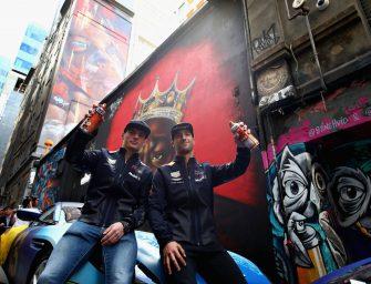 Daniel and Max turn into graffitti artists in Melbourne