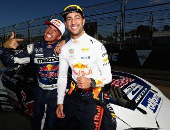 Daniel Ricciardo drifts in Melbourne