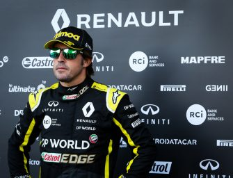 Fernando Alonso makes Renault F1 Team debut