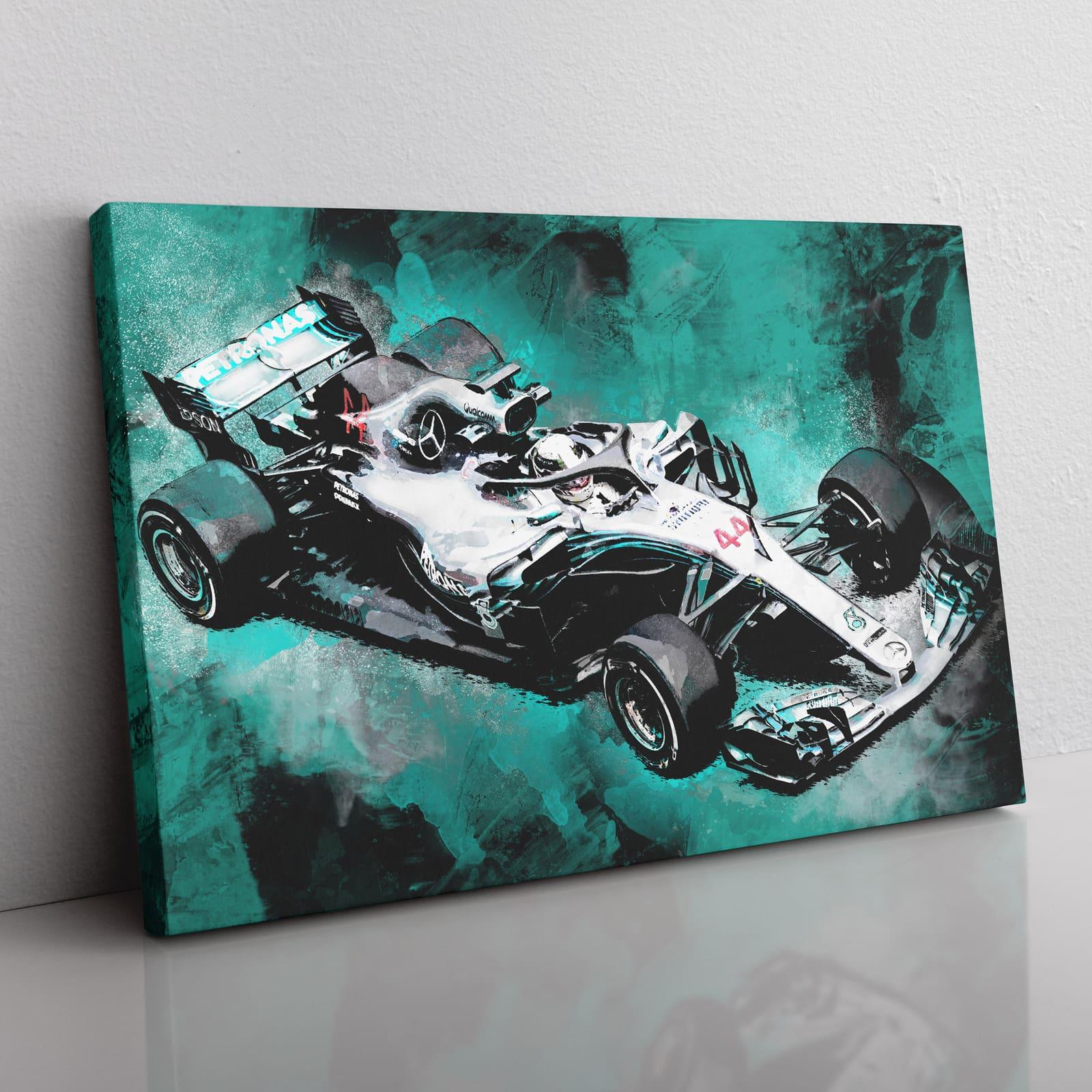 Lewis Hamilton F1 Canvas Wall Art
