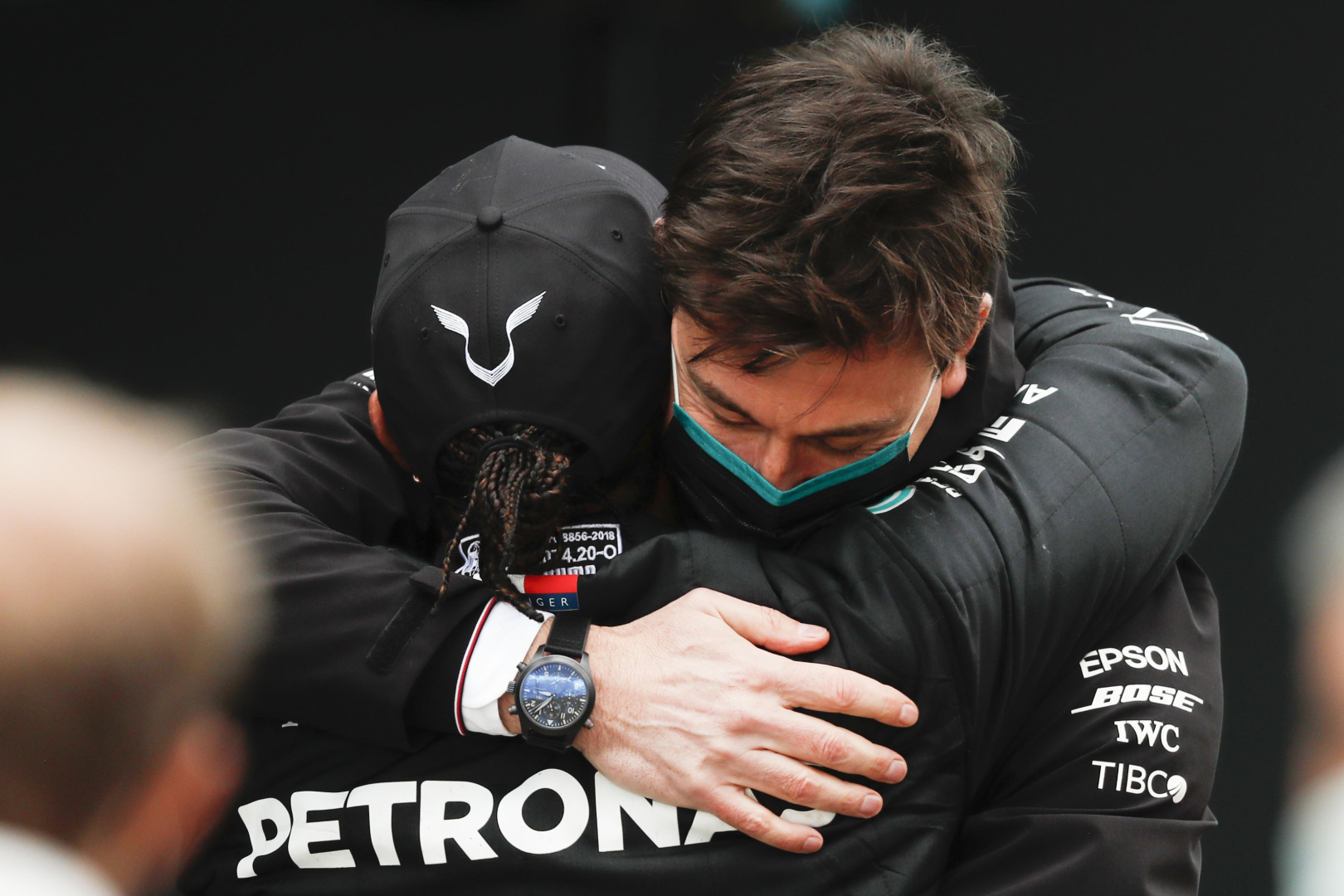 Toto Wolff and Lewis Hamilton, 2020 Turkish Grand Prix, Sunday
