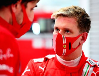 Mick Schumacher reunited with SF71H at Fiorano