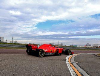 Scuderia Ferrari debut with snowflakes at Fiorano