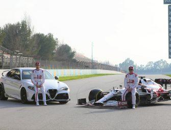 Giulia GTA kicks off the F1 season with Kimi and Antonio behind the wheel