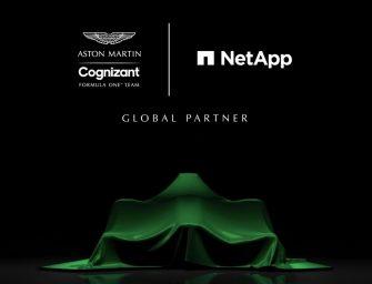 NetApp joins Aston Martin F1 Team