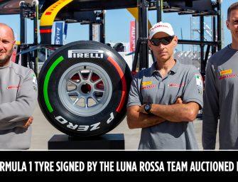 F1 tyre signed by Luna Rossa Prada Pirelli Team