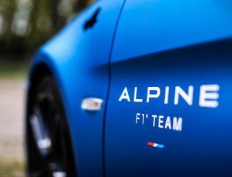 The Alpine A110 trackside cars at Imola