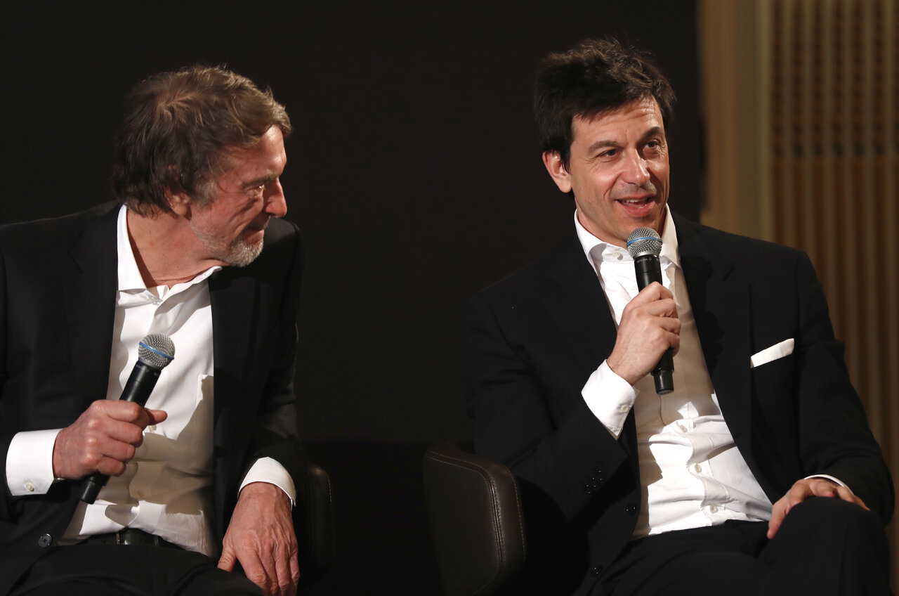 Toto Wolff and Sir Jim Ratcliffe